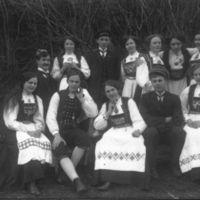 En gruppe fra Jæren Folkehøgskule, bl.a. Nils Garborg, Hans E. Hognestad f. 16.04.1894