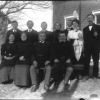 En gruppe fra Jæren Folekhøgskule -   skuespillergruppe.